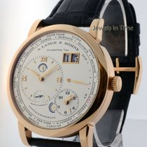 A. Lange & Söhne Rose gold Manual winding Silver 42mm pre-owned Lange 1