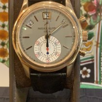 Patek Philippe Annual Calendar Chronograph Or rose 40.5mm Gris Sans chiffres