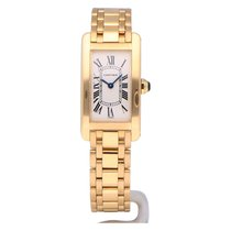 Cartier Tank Américaine pre-owned 19mm Silver Yellow gold