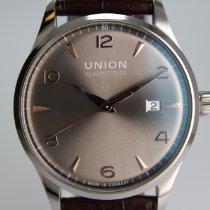 Union Glashütte Noramis Date Steel 40mm Grey Arabic numerals