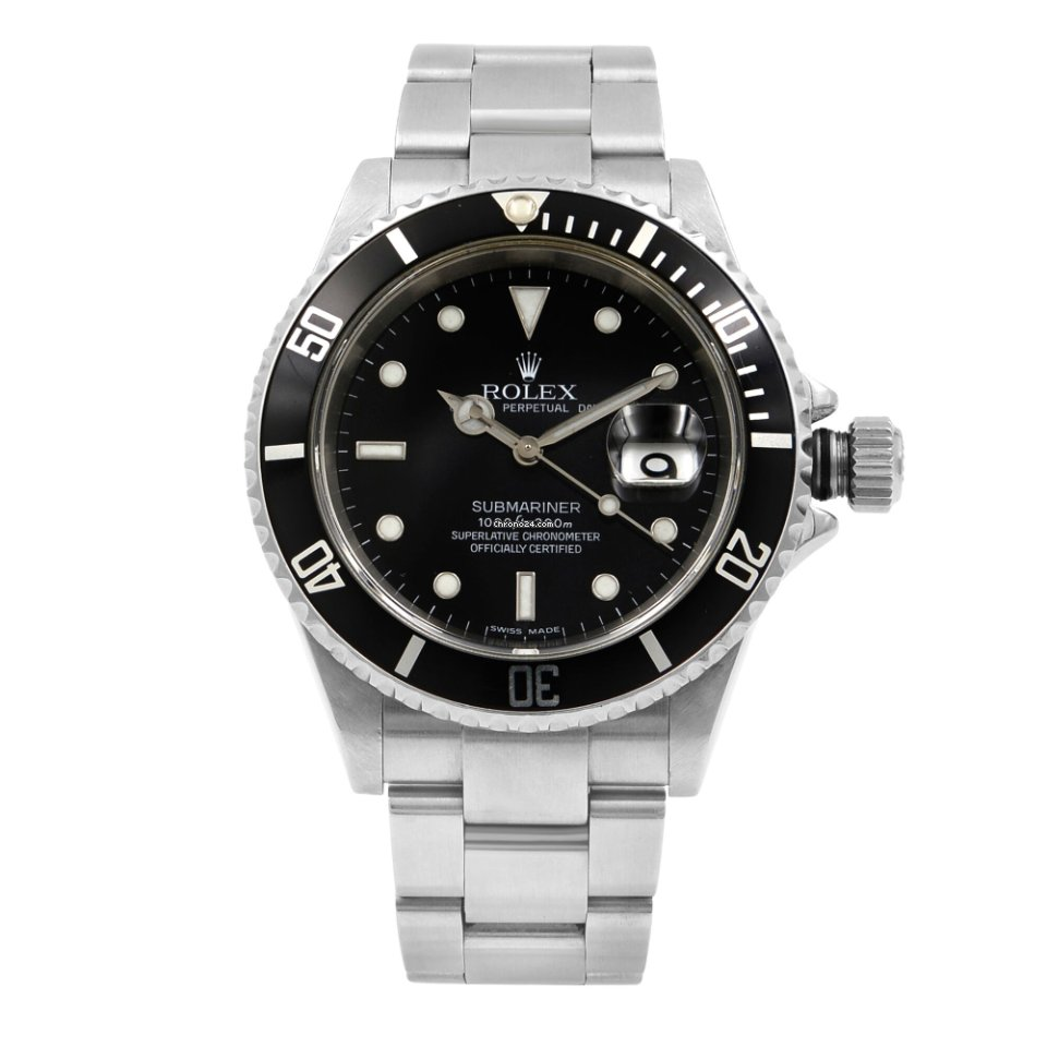 Rolex Submariner Date Steel Black Dial Oyster Band Automatic Mens Watch  16610