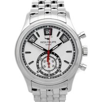 Patek Philippe Annual Calendar Chronograph Steel 40.5mm Silver