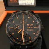 Mido Multifort Chronograph Stahl 44mm Schwarz
