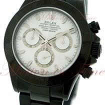 Rolex Cosmograph Daytona, White Dial - Black PVD Steel on...