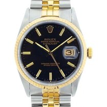 Rolex Datejust Men's 36mm Black Dial Gold And Stainless Steel...