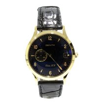 Zenith Yellow gold Manual winding Black Arabic numerals 38mm pre-owned Elite