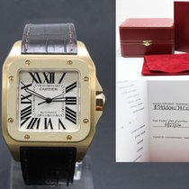 Cartier Santos 100 pre-owned 51mm Rose gold