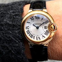 Cartier Ballon Bleu 28mm подержанные 28mm Cеребро Кожа аллигатора