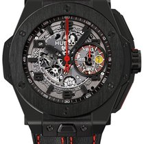 Hublot Big Bang Ferrari pre-owned 45mm Black Chronograph Date Leather