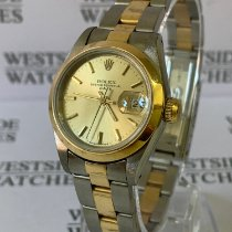 Rolex Oyster Perpetual Lady Date Steel 26mm Gold No numerals
