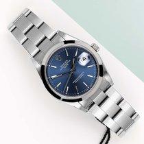 Rolex Oyster Perpetual Date Ocel 34mm Modrá