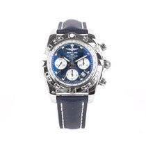 Breitling Chronomat 44 pre-owned 44mm Blue Chronograph Date Tachymeter Fold clasp
