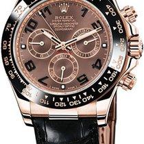 Rolex Daytona Or rose 40mm Brun Arabes