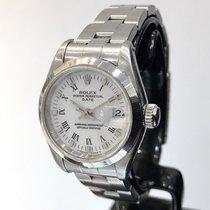 Rolex Oyster Perpetual Lady Date Stal 26mm Biały