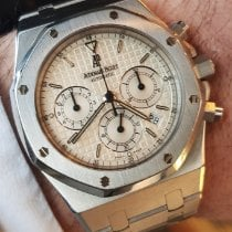 Audemars Piguet Royal Oak Chronograph occasion 39mm Blanc Date Acier