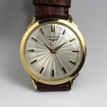 Longines dresswatch, 14 ct gold, rare dial and case, 50s,...