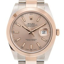 勞力士 Datejust 18k Rose Gold And Steel Brown Automatic 126301SUN...