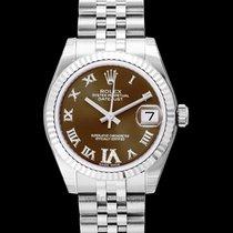 Rolex Lady-Datejust Stahl 31mm Braun