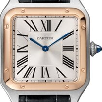 Cartier Santos Dumont Gold/Steel 43.5mm Silver Roman numerals United States of America, New York, New York
