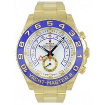 Rolex Yacht-Master II Ouro amarelo 44mm Branco Sem números