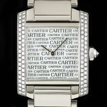 Cartier Tank Française White gold 25mm Silver