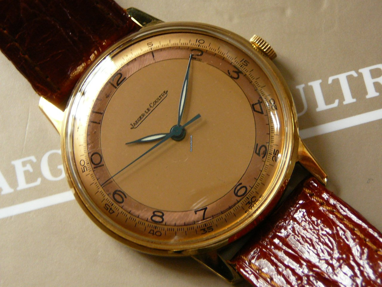 Jaeger Lecoultre Vintage 18k Yellow Gld