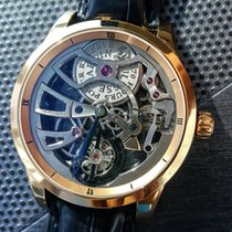 Ulysse Nardin Or rouge Remontage manuel Transparent 44mm nouveau Classic Skeleton Tourbillon