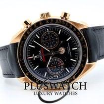 Omega Speedmaster Professional Moonwatch Moonphase Or rose 44,25mm Noir Sans chiffres