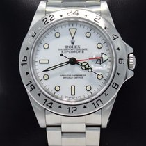 Rolex Explorer II 16570 Gmt Very Rare Polar White Dial...