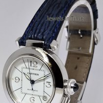 Cartier 35mm Pasha 18k White Gold Automatic Watch 2308