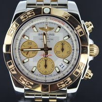 百年靈 (Breitling) Chronomat 41MM Gold/Steel White Dial, Full Set...