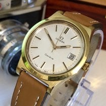Omega Geneve 1970s mens vintage Automatic gold watch + Box