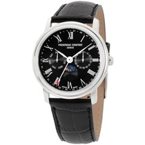 Frederique Constant Classics Business Timer Steel 40mm Black Roman numerals United States of America, New York, Brooklyn