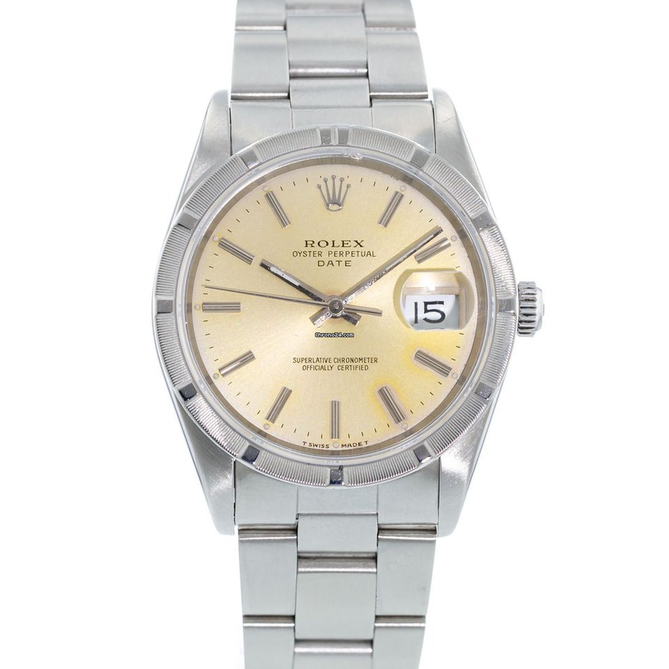 buy popular 64f90 7f2b6 Rolex Date 15210 Watch with Stainless Steel Bracelet and Stainless Steel  Bezel