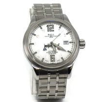 Ball Trainmaster pre-owned 41mm White Steel