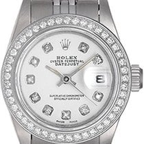 Rolex Oyster Perpetual Lady Date pre-owned 26mm White Date Steel