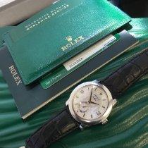 Rolex Cellini Платина 35mm Перламутровый Aрабские