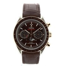 Omega Speedmaster Professional Moonwatch Moonphase Goud/Staal 44mm Bruin