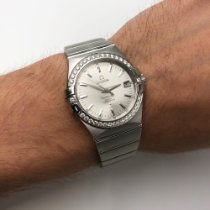 Omega Steel Automatic Silver No numerals 35mm new Constellation Ladies