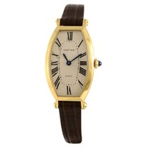 Cartier Tonneau Yellow gold White