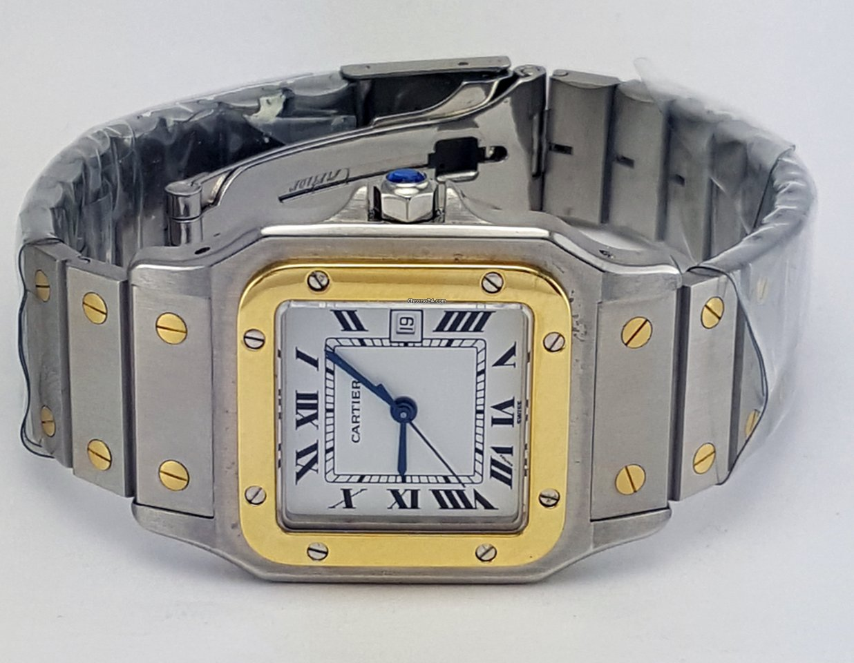 9bba3bfe7934 Cartier Santos Galbee Two Tone 29mm REF 4812 for Price on request for sale  from a Trusted Seller on Chrono24