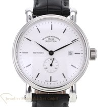Mühle Glashütte Steel Automatic Silver No numerals 41mm pre-owned Teutonia II