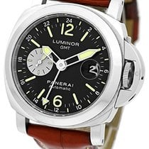 """Panerai Gent's Stainless Steel 44mm  """"Luminor GMT"""" Dual Time..."""