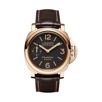 Panerai Luminor Marina 8 Days Or rose 44mm Brun Arabes