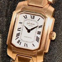 Glashütte Original Senator Karrée Gelbgold 23,3mm Weiß Deutschland, Juwelier Arnold in Hamburg Colonnaden 26