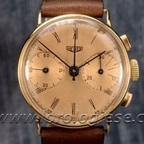 "Heuer – Vintage-1930`s ""big Eyes"" 18kt. Gold Chronograph –..."