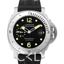 Panerai Luminor Submersible Automatic Acciaio Black Steel/Rubb...