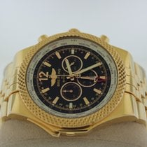 Breitling Rose gold Automatic Black No numerals new Bentley GMT