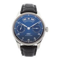IWC Portuguese Annual Calendar Steel 44.2mm Blue Arabic numerals United States of America, New York, NYC
