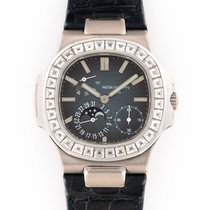 Patek Philippe White gold Automatic Blue 40mm pre-owned Nautilus